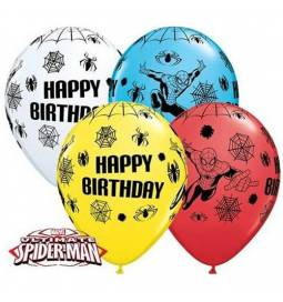 Pisani baloni Spiderman Happy Birthday, 10/1