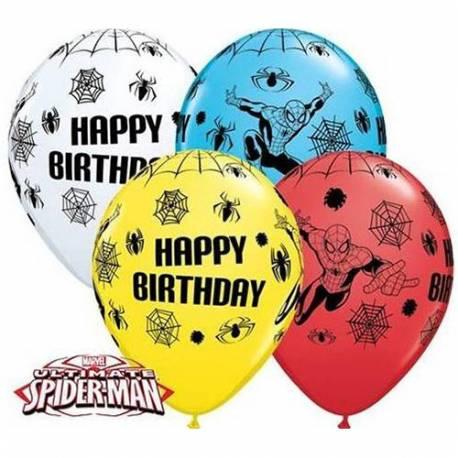 Pisani baloni Spiderman Happy Birthday, 10/1