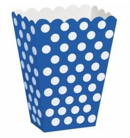 Škatla za sladkarije, modra s pikami