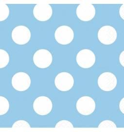 Serviete 33x33 cm, Modre s pikami
