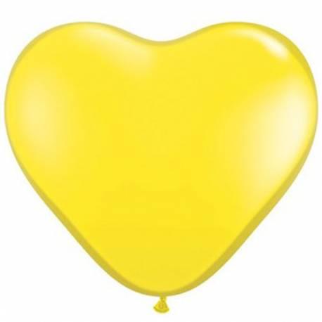 Srce baloni 15 cm, rumeni 10/1