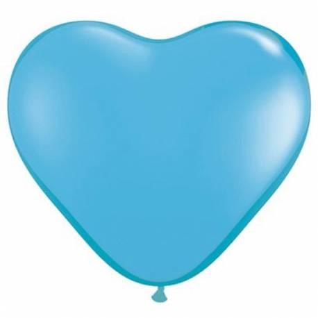 Srce baloni 15 cm, svetlo modri 10/1