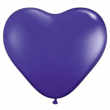Srce baloni 15 cm, Temno vijolični