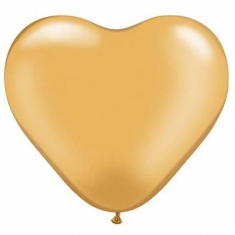Srce baloni 15 cm, zlati 10/1
