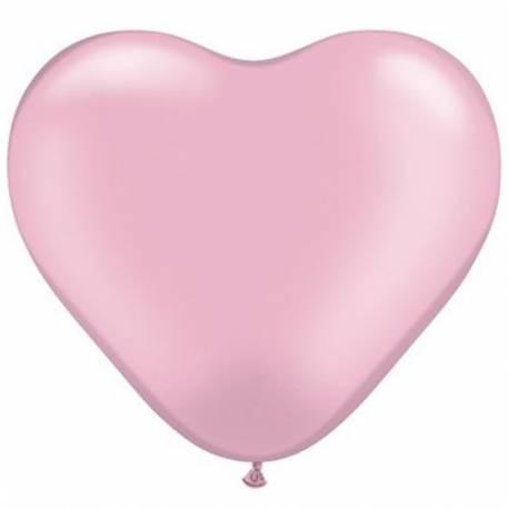 Srce baloni 15 cm, pearl svetlo roza 10/1