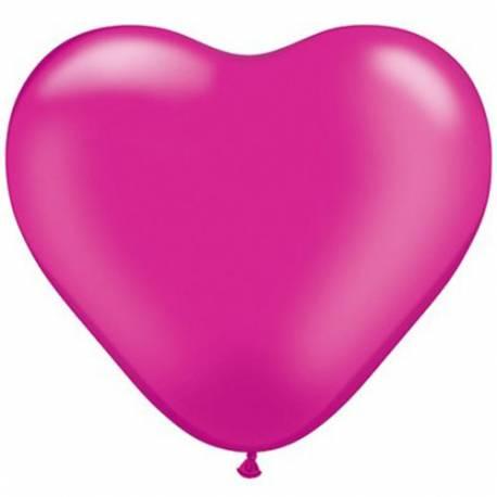 Srce baloni 15 cm, pearl magenta