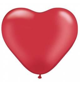 Srce baloni 15 cm, pearl rdeči