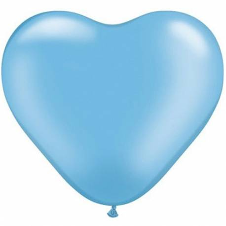 Srce baloni 15 cm, pearl sinje modri10/1
