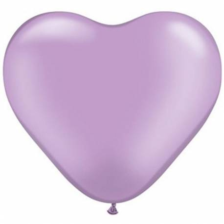 Srce baloni 15 cm, pearl lila 10/1