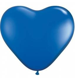 Srce baloni 15 cm, smaragdno modri 10/1