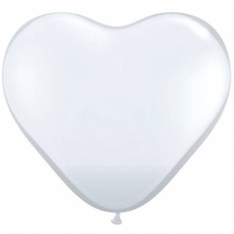 Srce baloni 15 cm, prozorni 10/1