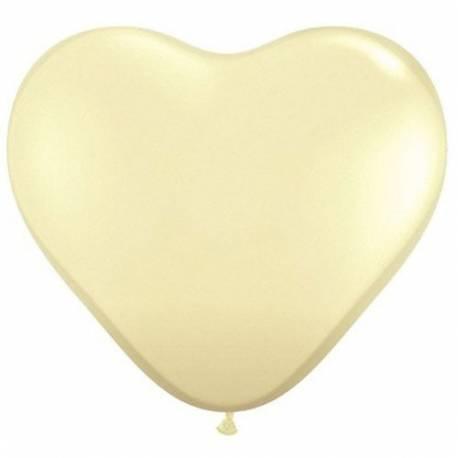 Srce baloni 15 cm, krem 10/1