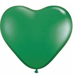 Srce baloni 15 cm, temno zeleni 10/1