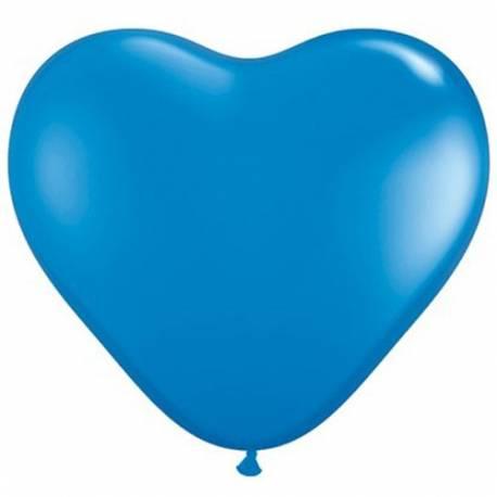 Srce baloni 15 cm, temno modri 10/1