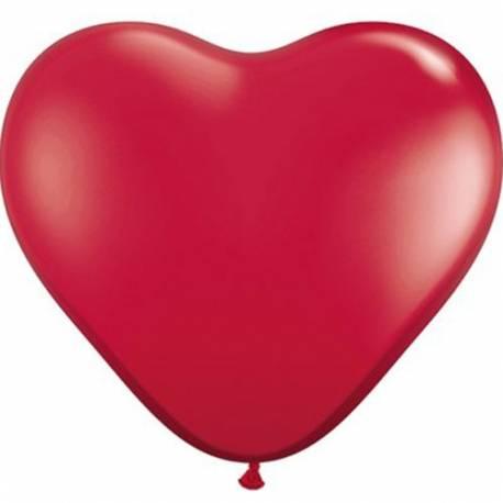 Srce baloni 15 cm, rubinasto rdeči 10/1