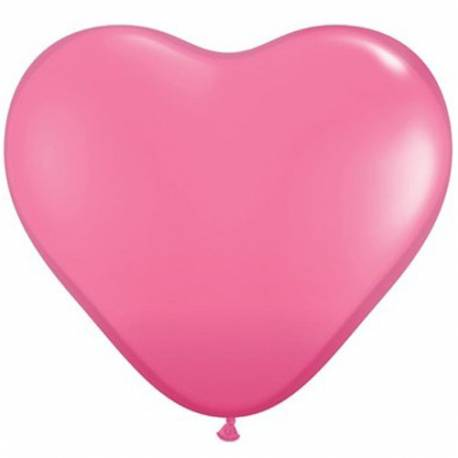 Srce baloni 15 cm, temno roza 10/1