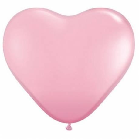 Srce baloni 15 cm, Svetlo roza 10/1