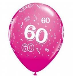 Wild Berry baloni za 60 rojstni dan, 10/1