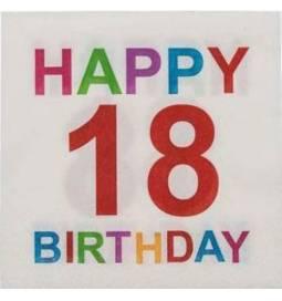 Barvni prtički za 18 rojstni dan