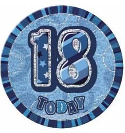 Broška za 18 rojstni dan, modra