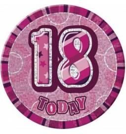 Broška za 18 rojstni dan, pink