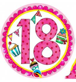 Broška za 18 rojstni dan, roza