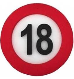 Dekoracija Prometni znak 18 let