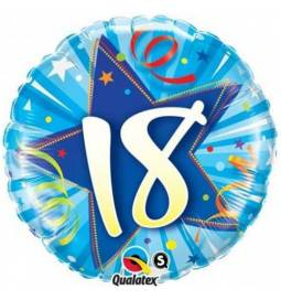 Folija balon za 18 let, Blue Stars