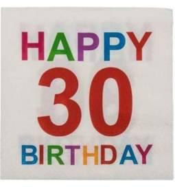 Barvni prtički za 30 rojstni dan