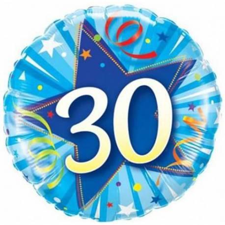 Folija balon za 30 let, Modra zvezda