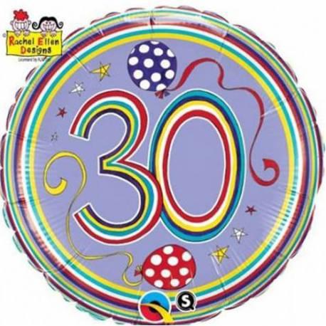 Folija balon za 30 let, Rachel Ellen