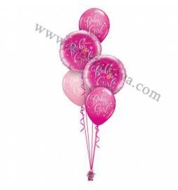 Dekoracija iz balonov Baby Girl