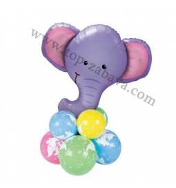 Dekoracija iz balonov Slončki