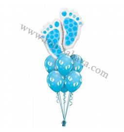 Dekoracija iz balonov Modre nogice