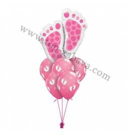Dekoracija iz balonov Pink nogice 1