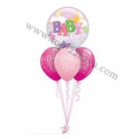 Dekoracija iz balonov Baby Girl Bubble