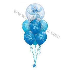 Dekoracija iz balonov Baby Boy Bubble