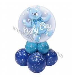 Dekoracija iz balonov Baby Boy Bear