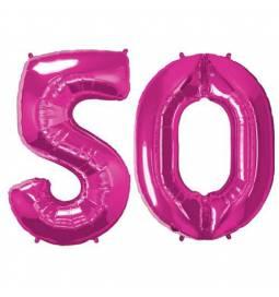XXL balona številka 50,  magenta