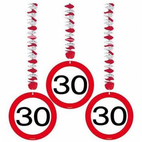 Viseča dekoracija za 30 let, Stop znak