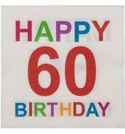 Barvni prtički za 60 rojstni dan