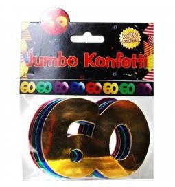 Jumbo konfeti za 60 rojstni dan, pisani