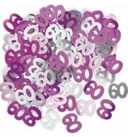 Konfeti za 60 rojstni dan, Pink