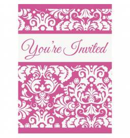 Vabila Ornament Damask Pink