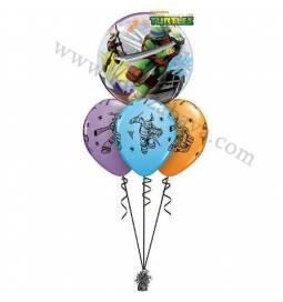 Dekoracija iz balonov Ninja Želve