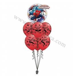 Dekoracija iz balonov Spiderman