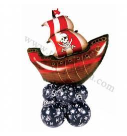 Dekoracija iz balonov Gusarska ladja 1
