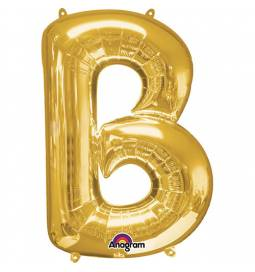 XXL balon črka B, zlata 86 cm
