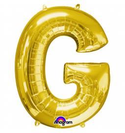 XXL balon črka G, zlata 86 cm
