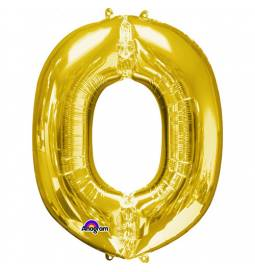 XXL balon črka O, zlata 86 cm